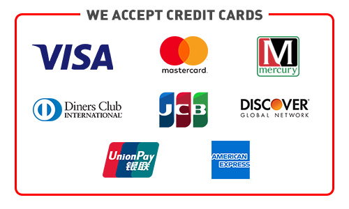 Accepted all Payment Methods